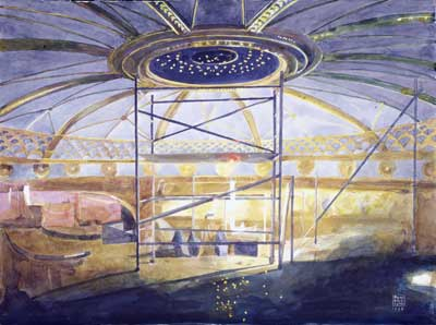 Glynn Boyd Harte's painting of the ROH dome